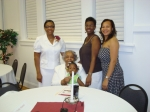 Four Generations (from left to right): Wanda Wilkinson, Alma Whitaker, Jakaii Brooks, Stacey Wilkinson, and Jozette Wilk