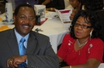 Milbert Burrus, Coordinator, Class of 1966, and wife