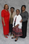 Gwen Arthur, Helen Jackson and Rita Jackson Gilbert and child