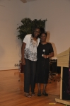 Veronica Palmer presents scholarship for Triangle Chapter to Ro Chelle Davis.