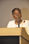 Cecilia Williams, Class of 1960, presides during the Memorial Service