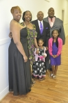 The Barber Family - daughters(LaShawn and Stephanie), granddaughters, honoree Barber and son, Stevie